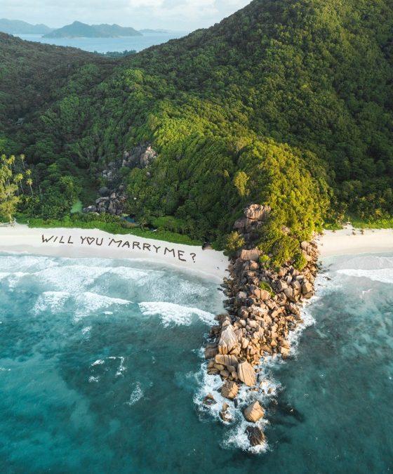 Heiratsantrag auf den Seychellen