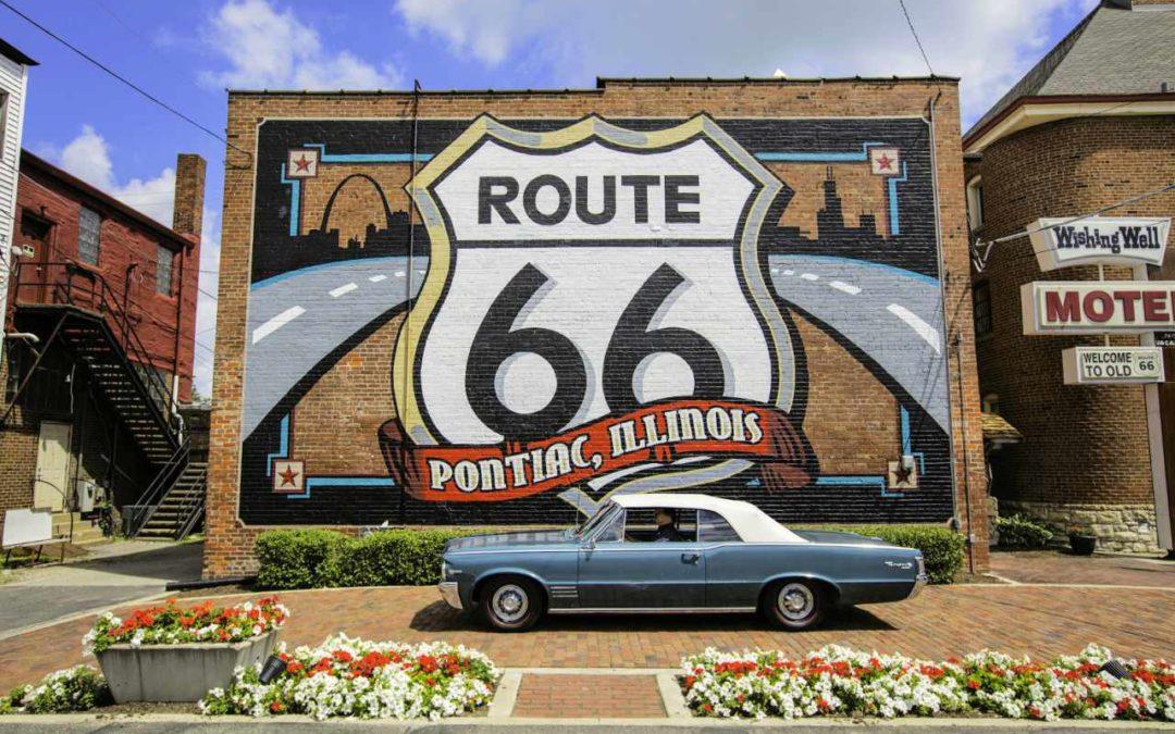 Route 66-Promotion-Kampagne für Motorradfahrer