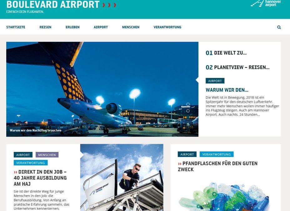 Flughafen Hannover: BOULEVARD AIRPORT jetzt auch als Onlineversion