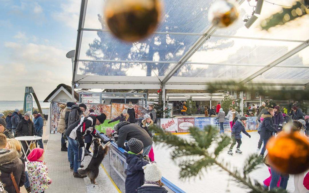 Dünenmeile on Ice – Eisbahn auf dem Seebrückenvorplatz in Scharbeutz