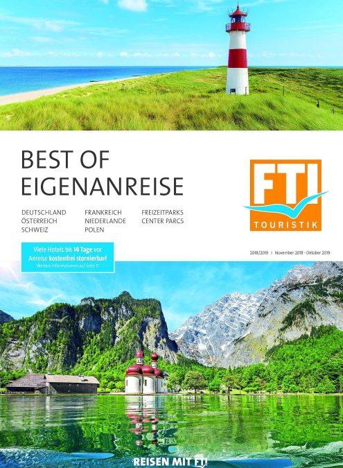 FTI fasst Kataloge für Eigenanreisen ab 2019 zusammen