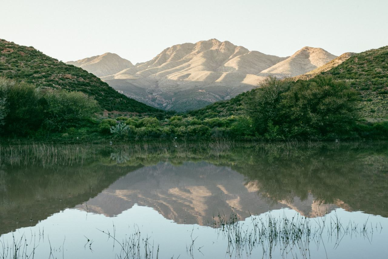 Stausee in der Nähe von Kapstadt
