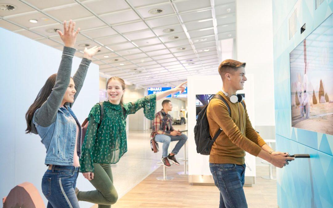 Terminal 2 am Frankfurter Flughafen mit neuen kostenlosen Einrichtungen