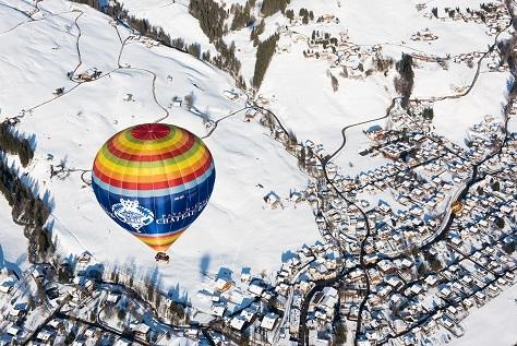 Ballonfestival 2019 in Château-d'Oex in den Waadtländer Alpen