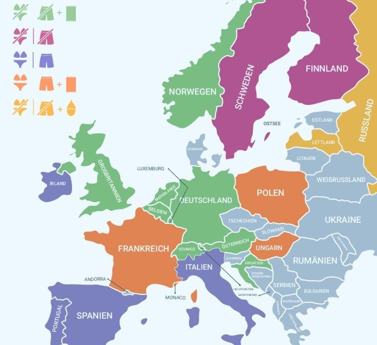 """Richtiger Sauna-""""Dresscode"""" in europäischen Ländern"""