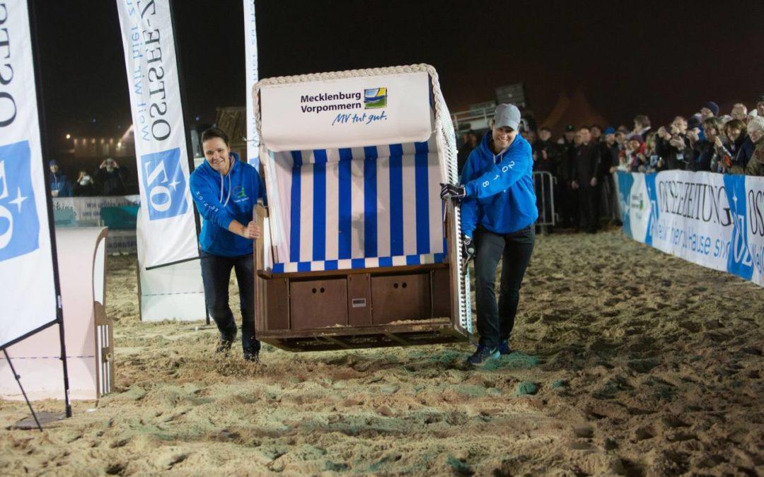 Usedom: Strandkorbsprint-Weltmeisterschaft am Strand von Ahlbeck