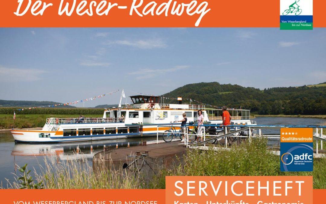 Weser-Radweg Informationsheft 2019 mit acht Etappenvorschlägen