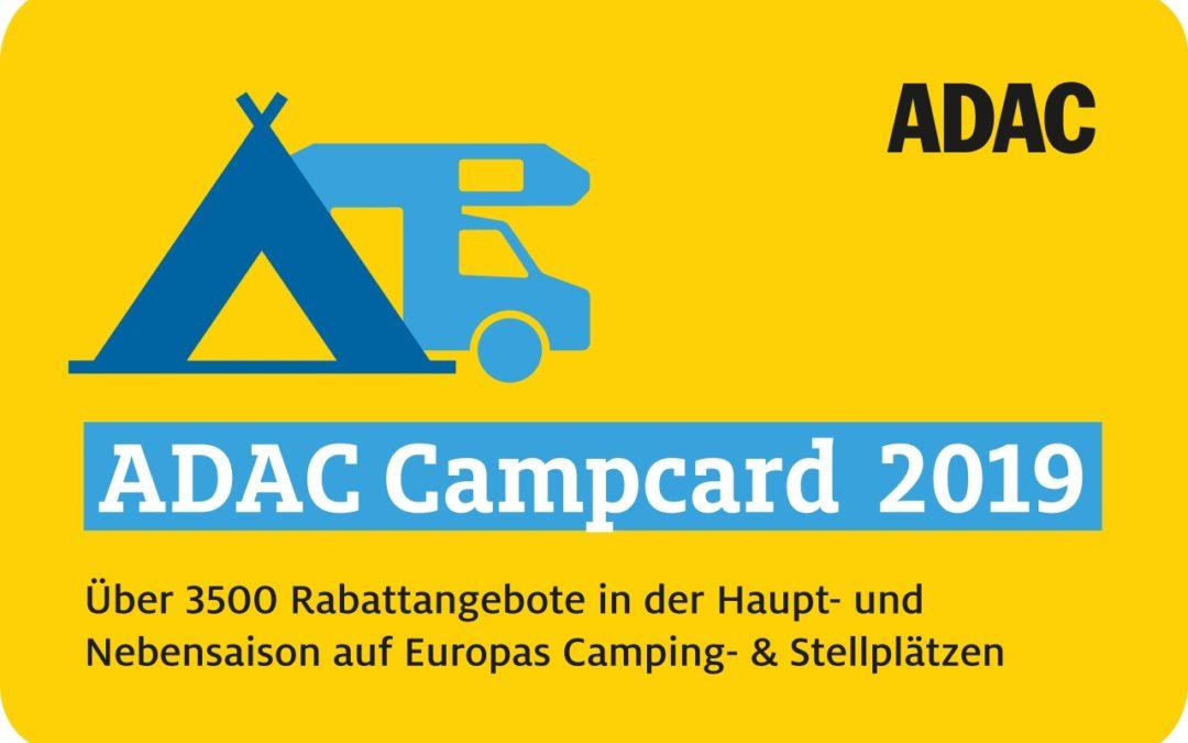 Rabatte auf Campingplätzen mit der ADAC Campcard 2019