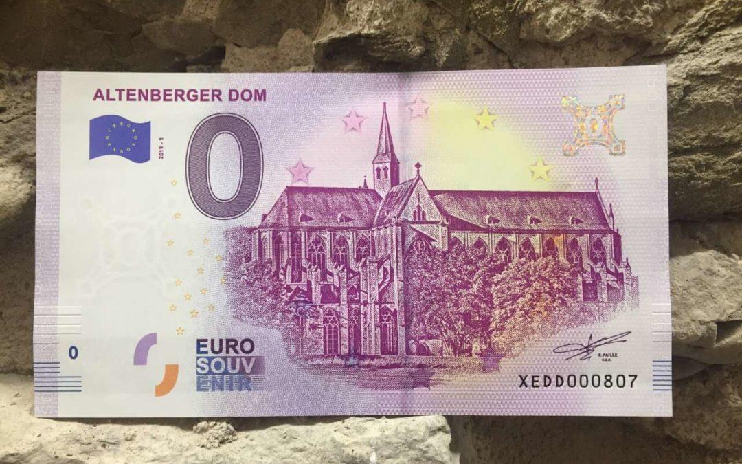 Altenberger Dom als Motiv auf Null-Euro-Schein