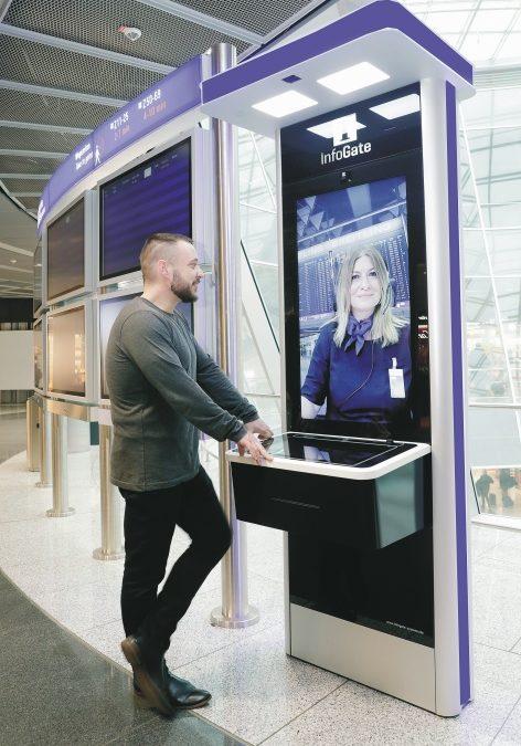 Auskünfte per Videotelefonie am Flughafen Frankfurt