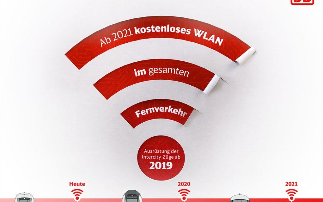 Bis 2021 kostenloses WLAN in allen Intercity der Deutschen Bahn