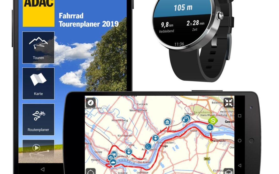 ADAC präsentiert Wander- und Fahrradtouren-Apps 2019