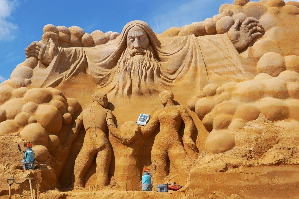 Sandskulpturenfestival in Søndervig an der dänischen Nordsee