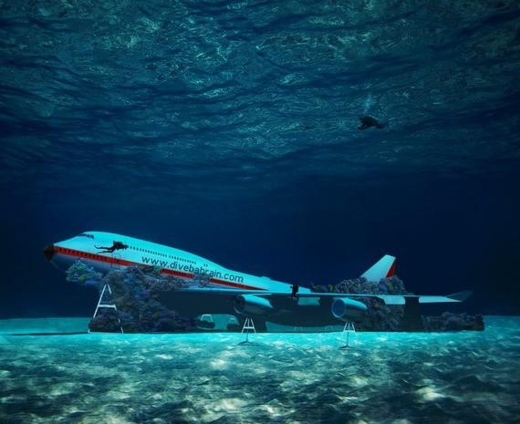 Boeing 747 für Unterwasser-Themenpark vor Bahrain versenkt