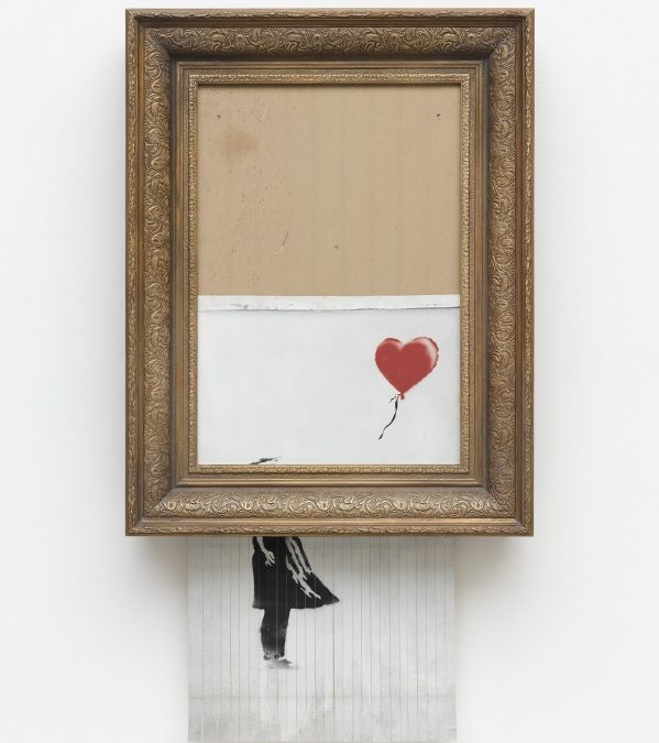 "Banksys ""Love is in the Bin"" in der Stuttgarter Staatsgalerie"