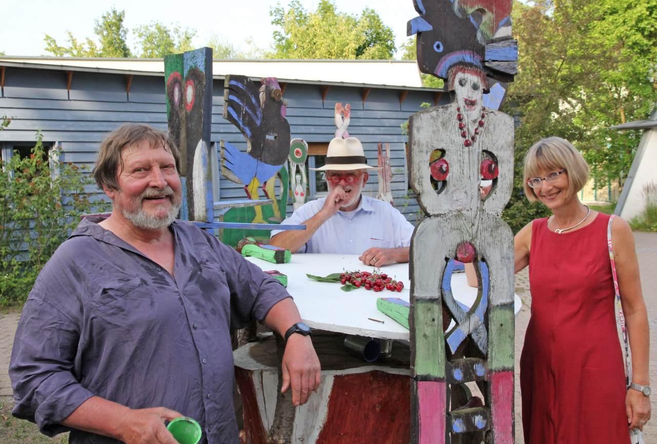 Kunst für Blinde im Skulpturenpark Dachsberg