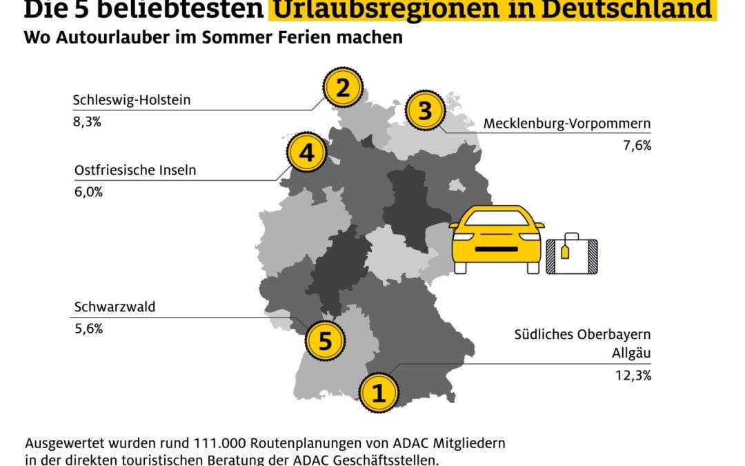 Urlaubsland Deutschland bei Autoreisenden auch 2019 hoch im Kurs