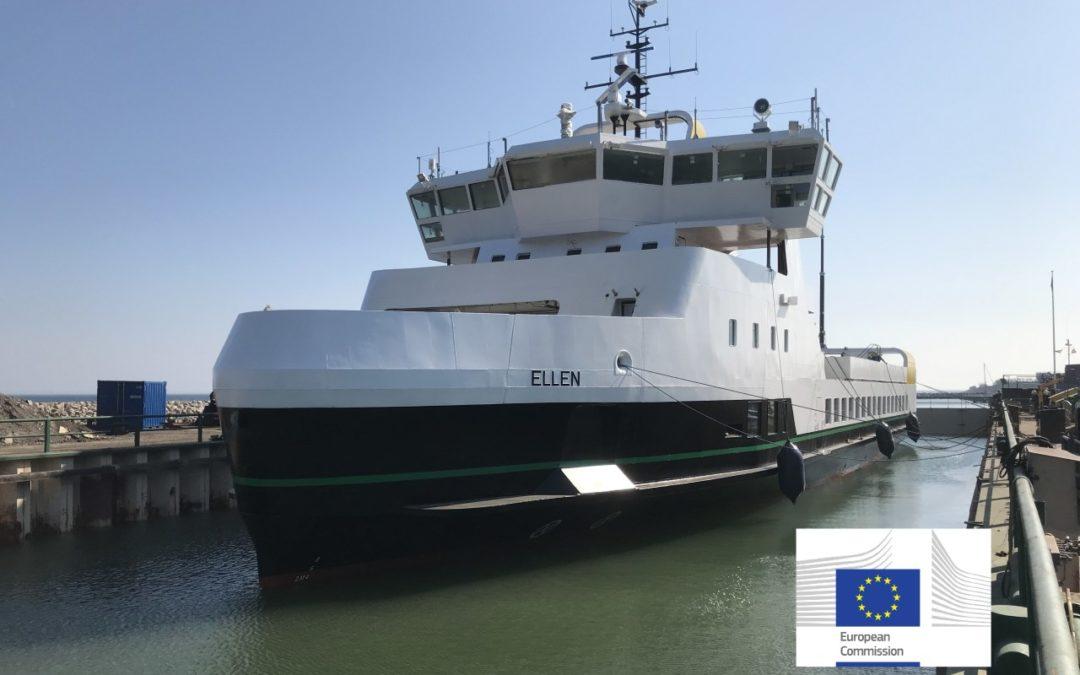 Erste Elektrofähre Dänemarks verkehrt zwischen Fynshav und Ærø