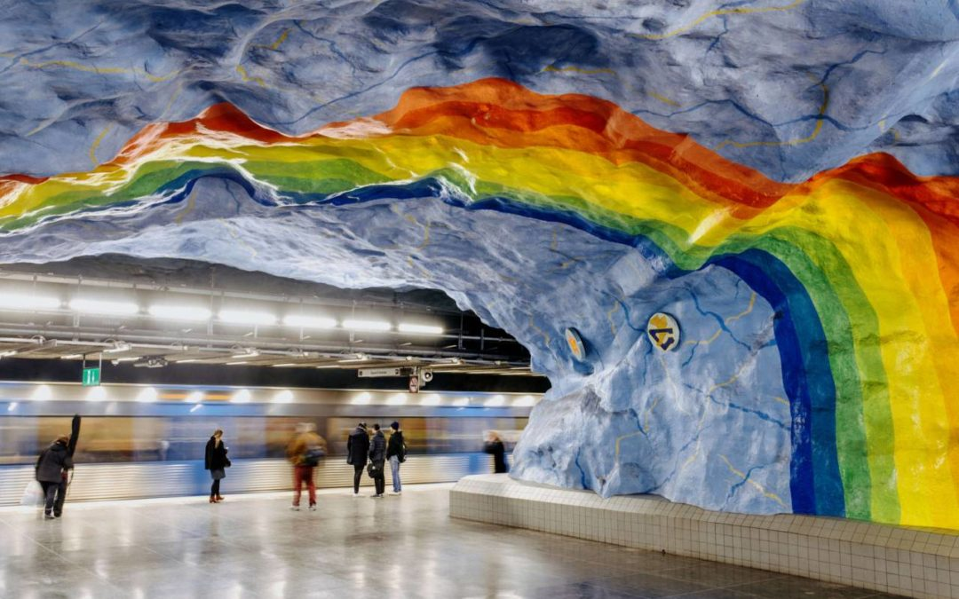 Neue App führt zu Kunstwerken in Stockholmer U-Bahn Stationen