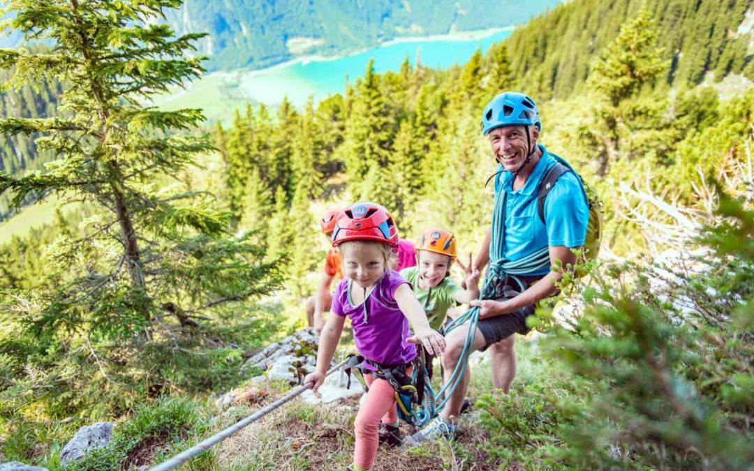 Neuer Familienklettersteig am Achensee