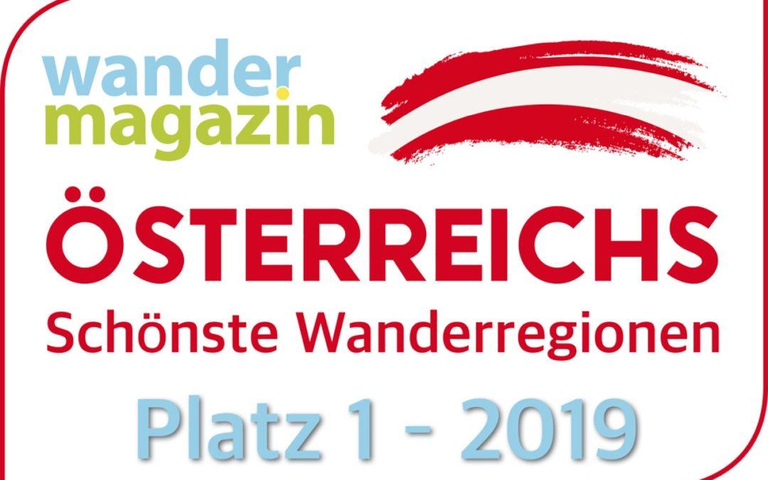 Österreichs schönste Wanderregion 2019