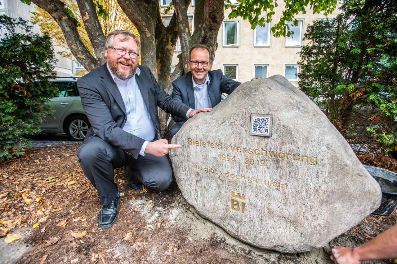 Gedenkstein Bielefeld-Verschwörung