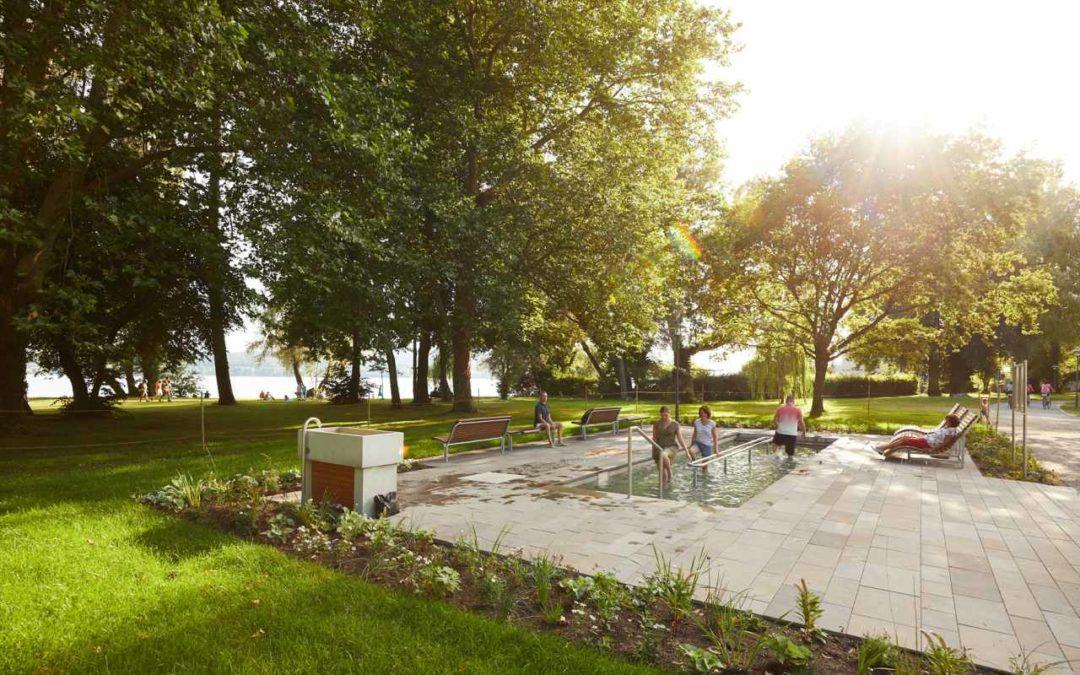 Neues Kneippbecken in Radolfzell am Bodensee