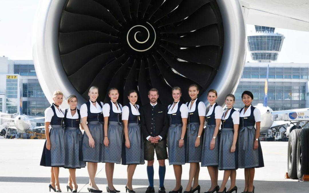 Oktoberfest 2019: Lufthansa-Mitarbeiter wieder in Trachtencrew