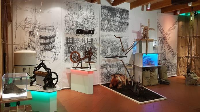Auf den Spuren deutscher Redewendungen – Ausstellung Moorseer Mühle