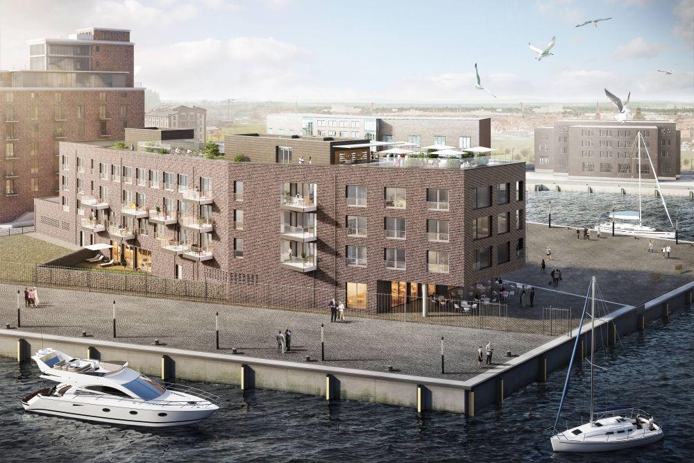 """Projekt """"Hafenspitze"""" – neue Ferienwohnungen am Wismarer Hafen"""