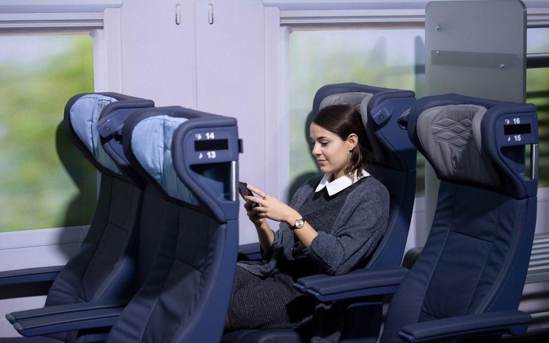 Modernere ICE-Sitze bei der Deutsche Bahn