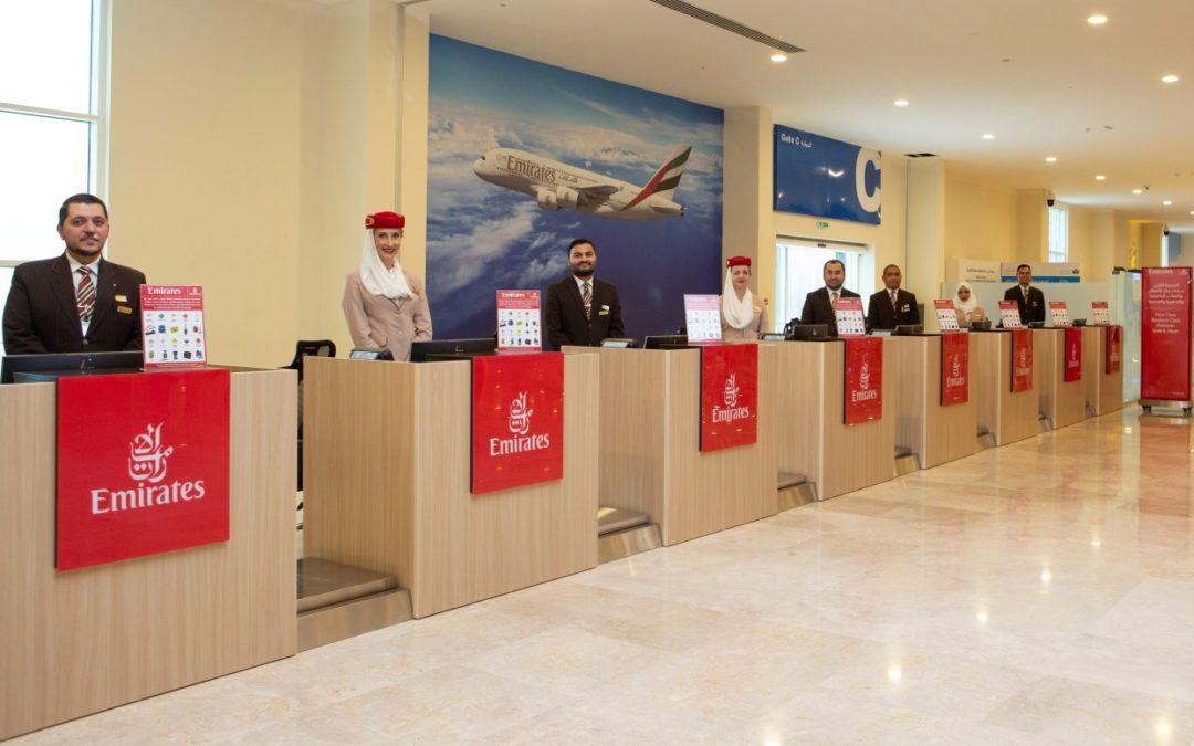 Emirates: Check In für Kreuzfahrtpassagiere am Hafen von Dubai