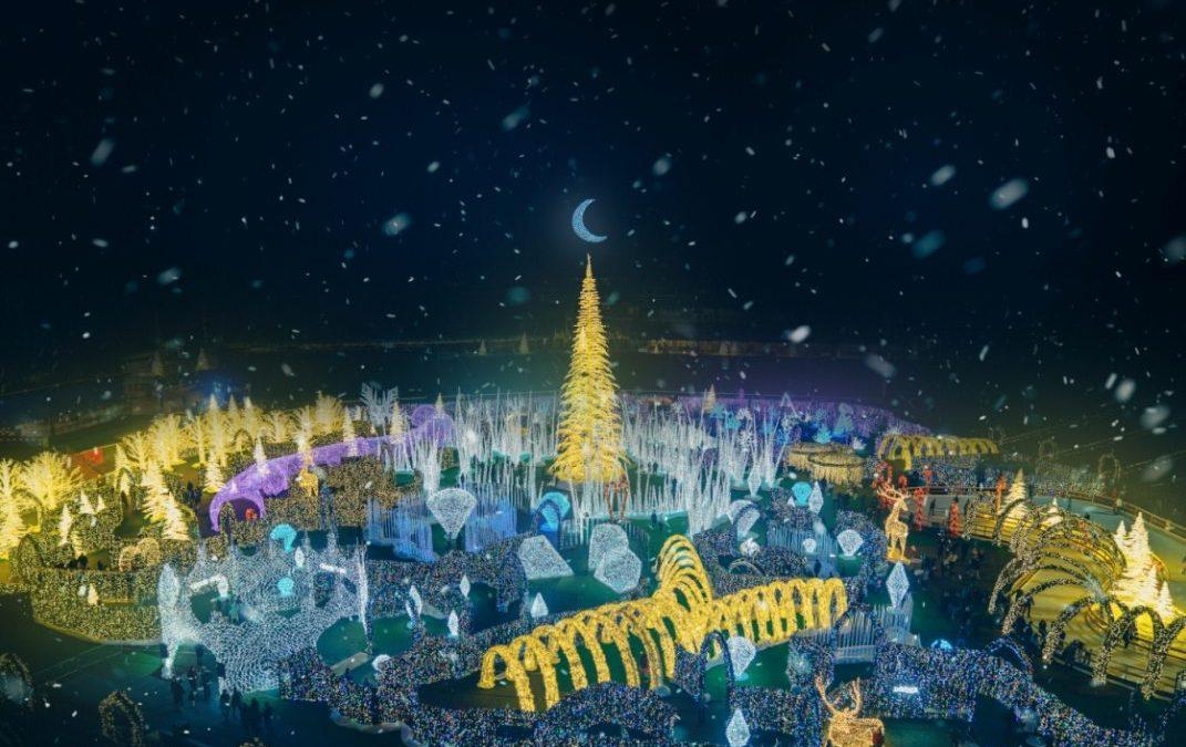 Weihnachtslichter-Erlebnislabyrinth im Stadion der Washington Nationals