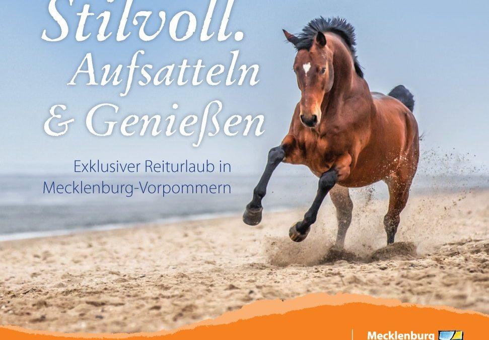 Neue Broschüre für Reiturlaub in Mecklenburg-Vorpommern