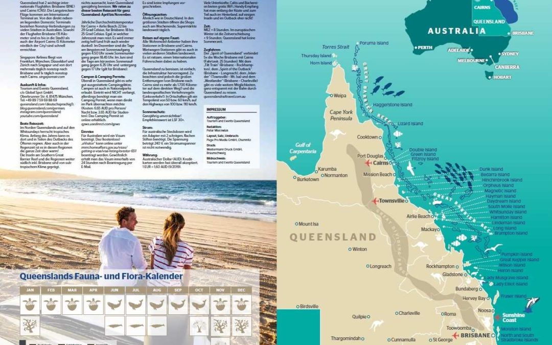 Neuer deutschsparchiger Gratis Reiseführer für Queensland erschienen