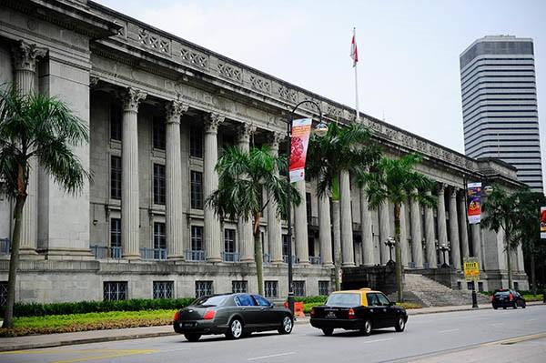 Multimedia-Ausstellung zur Geschichte der singapurischen City Hall