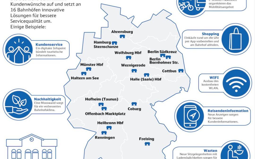 Deutsche Bahn plant attraktivere Zukunftsbahnhöfe in Deutschland