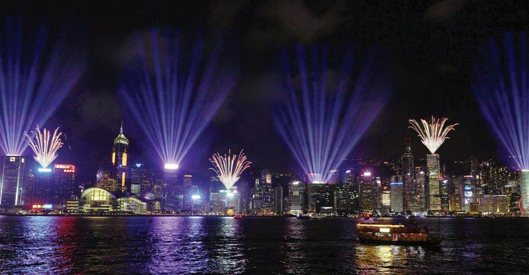 Hongkong: Neujahr 2020 startet mit großem Glückspiel und Lichtershow