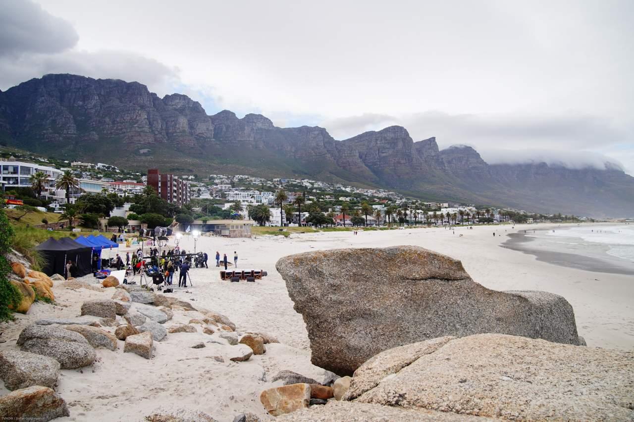 DSDS Drehort Camps Bay in Kapstadt