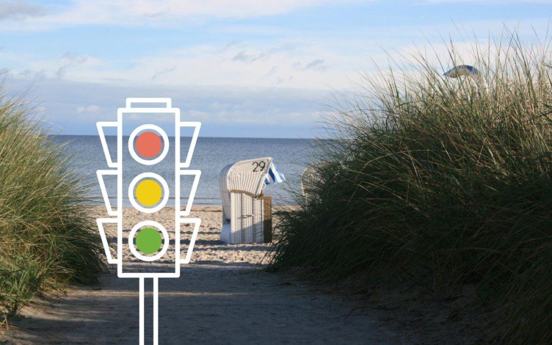 Strandampel informiert über freie Strandplätze in der Lübecker Bucht