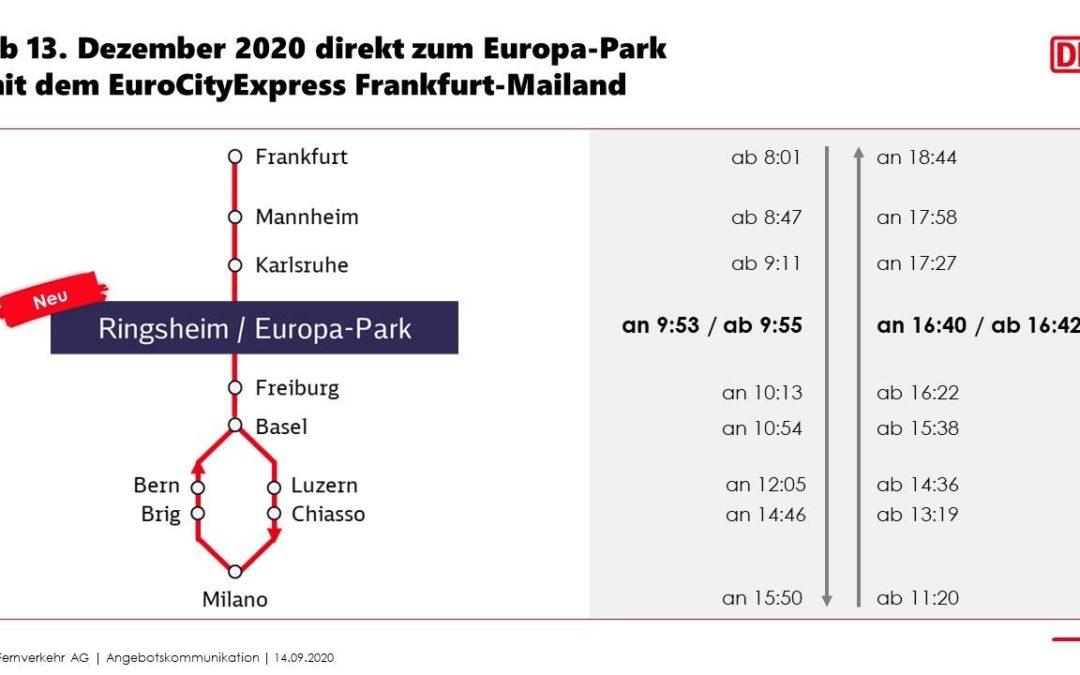 Europa-Park bekommt Anbindung an den Bahn-Fernverkehr