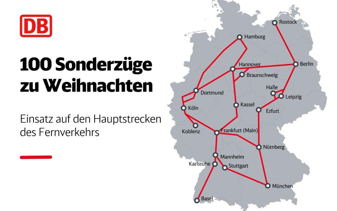 Deutsche Bahn-Maßnahmen für sicheres Reisen zu Weihnachten 2020