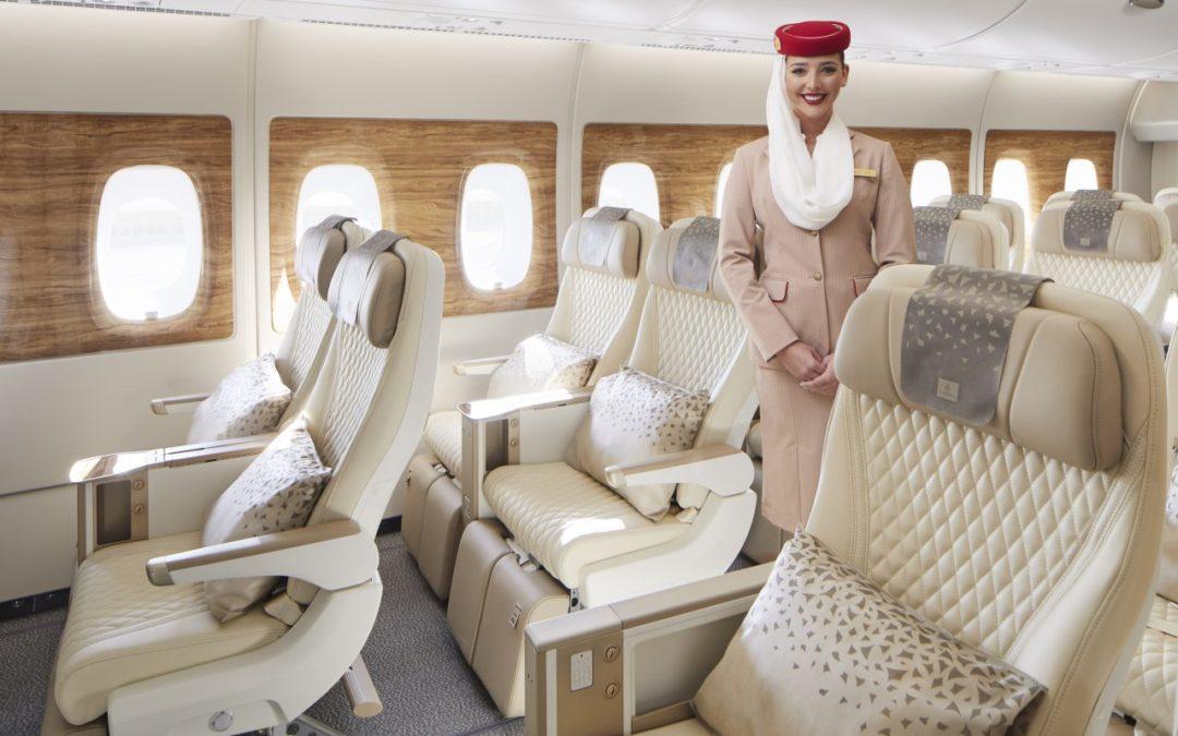 Emirates frischt Flugzeugkabinen im Airbus A380 auf