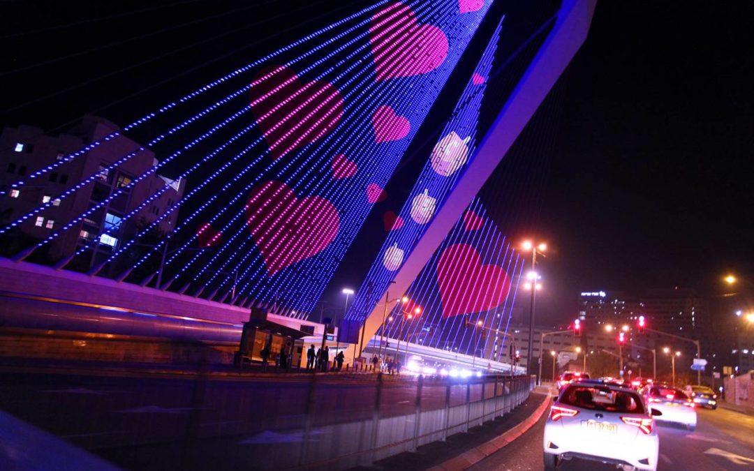 Jerusalems Wahrzeichen werden bei großem Lichtfestival angestrahlt