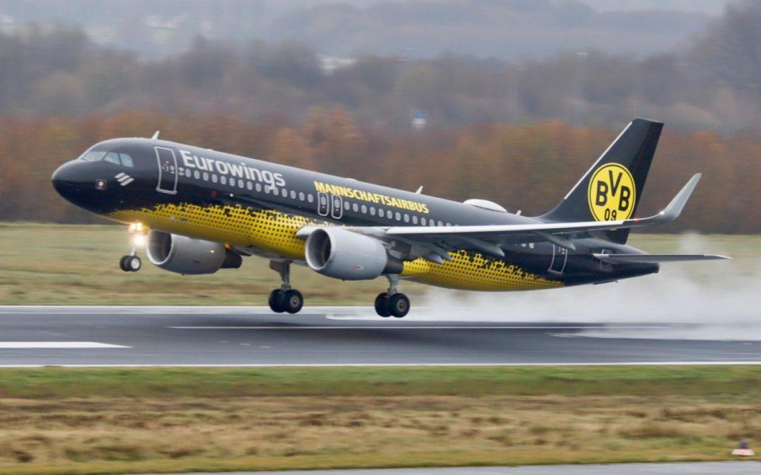 """""""BVB Mannschafts-Airbus"""" zukünftig regelmäßiger Gast in Dortmund"""