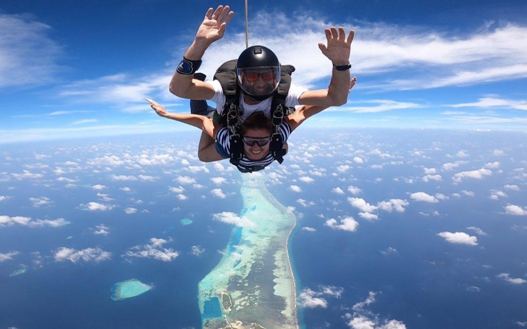 Skydiving mit und ohne Guide auf den Malediven