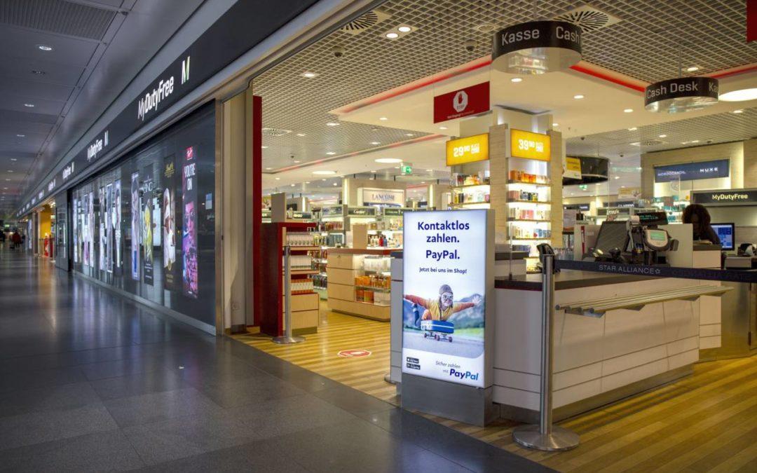 PayPal neue Bezahlmöglichkeit in Geschäften am Flughafen München