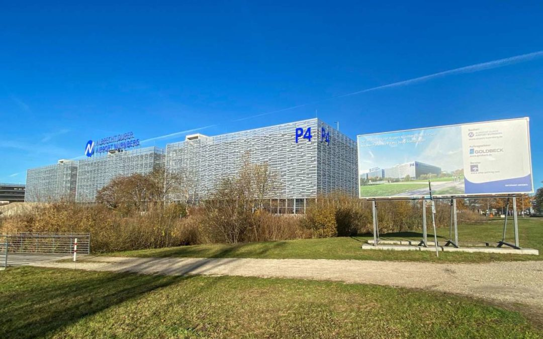 Neues Parkhaus mit 3600 Stellplätzen am Flughafen Nürnberg