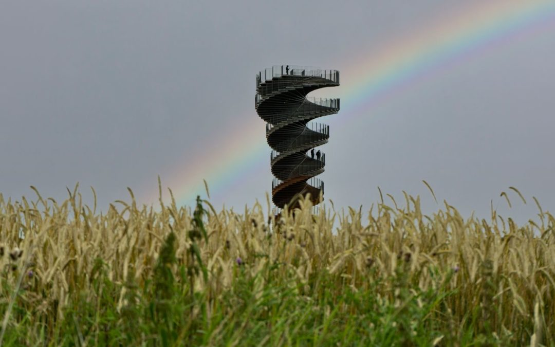 Spektakulärer Aussichtsturm in der Region Tøndermarsch