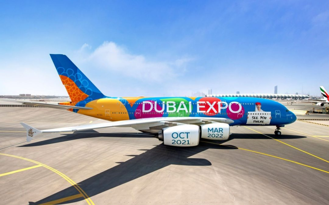 Expo Sonderlackierung für Emirates Airbus A380